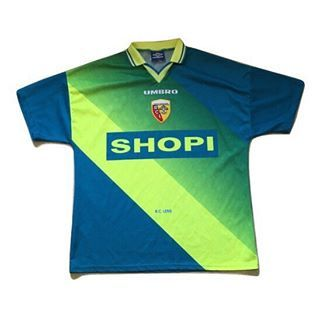 Iconic Kit Or One To Forget Rc Lens Away 1996 97 Link In Bio Retro Football Shirts Vintage Football Shirts Rc Lens