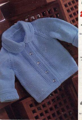 Spanish knitting pattern for Boy Jacket In SPANISH pdf pattern instant download