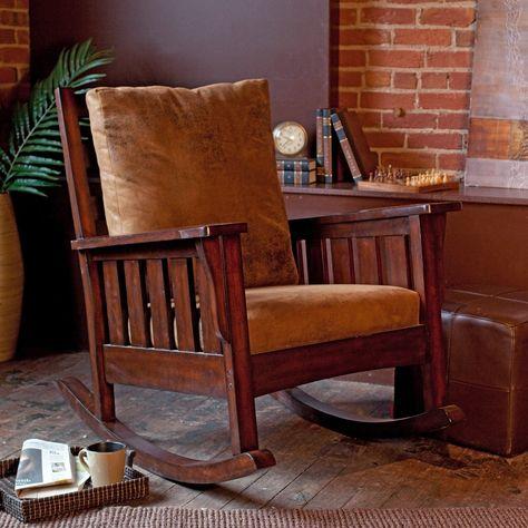 Belham Living Remington Mission Rocker - Walnut | Roking chair ...