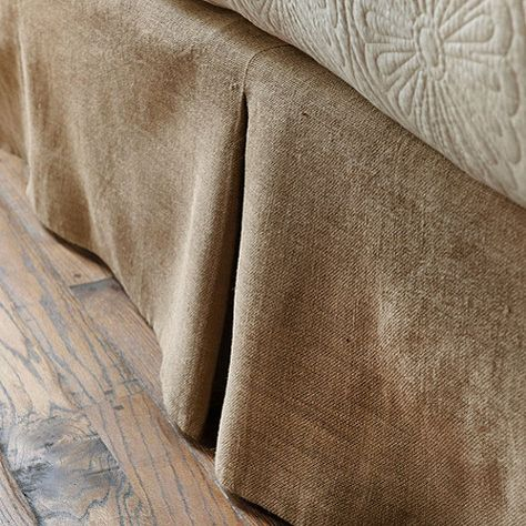Ballard Basic Tailored Bedskirt in burlap or natural linen for boys beds.  in queen $60.00 each