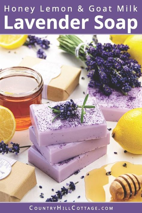 Honey Lemon Lavender Soap Recipe - Easy DIY Soap Making Video Tutorial With Printable Labels