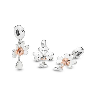 charms pandora trefle 4 feuilles