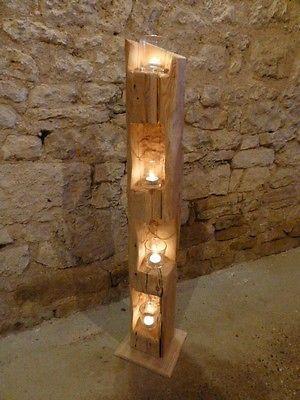 Holzbalken Dekorieren deko holzbalken windlicht laterne stele skulptur holz
