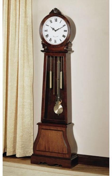 Vintage Grandfather Clock Antique Decor Hallway Floor