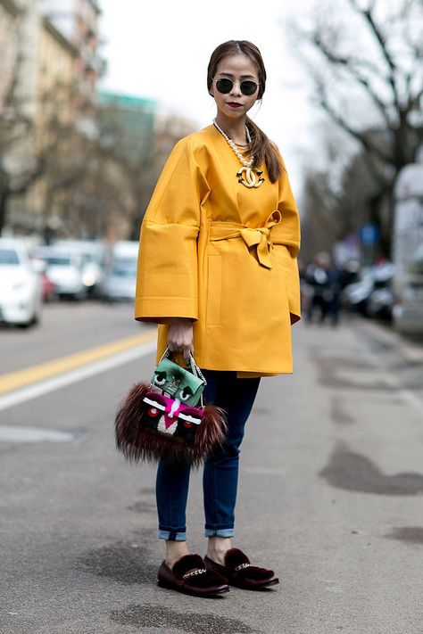 The Street Style at Milan Fashion Week Has Us Wanting Winter Now