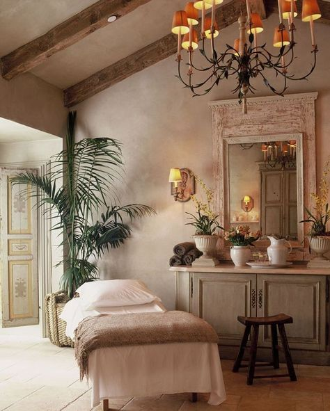 The 11 Most Over-the-Top Hotel Spa Treatments: Start planning a treat-yourself trip right now. spa design plan The Most Over-the-Top Hotel Spa Treatments From Around the World Massage Room Decor, Massage Therapy Rooms, Spa Room Decor, Day Spa Decor, Spa Treatment Room, Spa Treatments, Spa Interior Design, Home Interior, Schönheitssalon Design