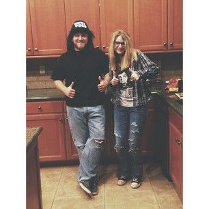 Wayne and Garth from Wayne's World. | 50 Couple Costume Ideas To Steal This Halloween