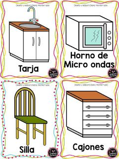 22 Tarjetas De Lugares De La Casa En Espanol E Ingles Tarjetas