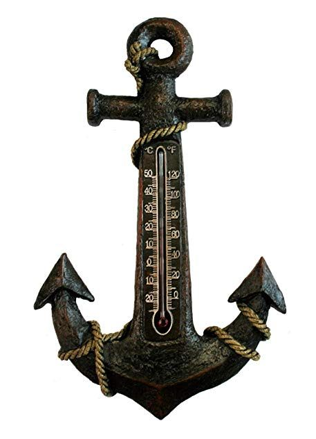 Manual Woodworkers Anchor Outdoor Thermometer Temperature Gauge Boat Sea Lovers Review Outdoor Thermometer Thermometer Temperature Thermometer