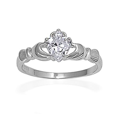 LOOK AT MY  SHOP NEW SILVER CLADDAGH RING 1 CLIP ON CHARM TIBET SILVER