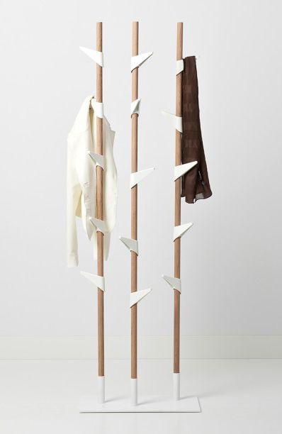 Standgarderobe Cascando Bamboo Garderobe Stander Flur Dekor Kleiderbugel