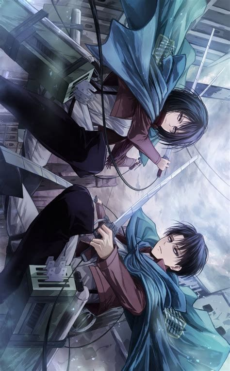 Shingeki No Kyojin Mikasa X Levi Ecosia Anime Attack On Titan Levi Attack On Titan