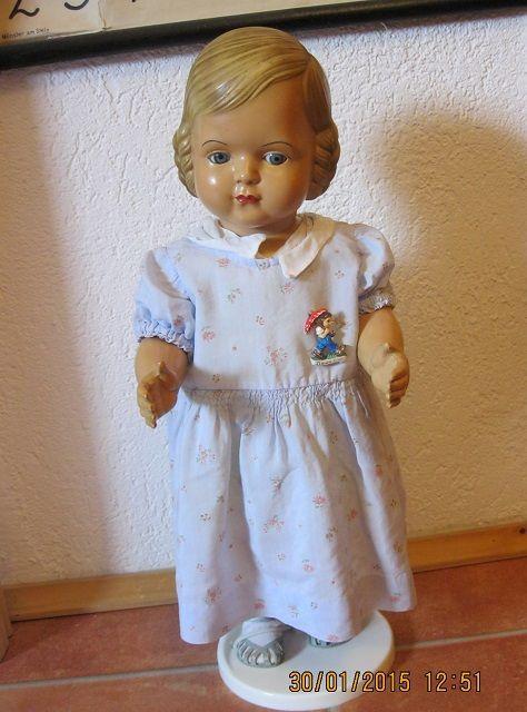 Cellba Puppe Helga Mit Affenschaukel Frisur Celluloid German