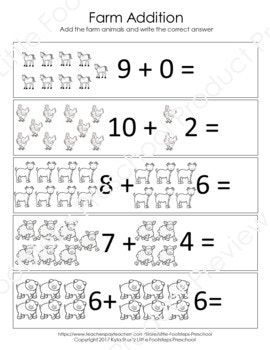 Farm Math Worksheets | Teachers Pay Teachers (TpT) | Math ...