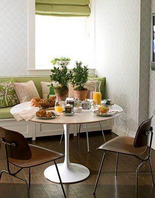 Outstanding Saarinen Tulip Table With Bench Seating Green Dining Room Uwap Interior Chair Design Uwaporg