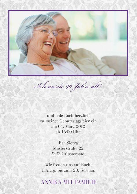 Einladungskarten 90 Geburtstag Geburtstag Einladung Vorlage