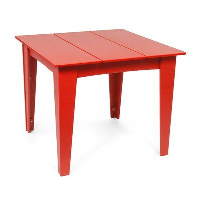 Loll Designs Alfresco Square Plastic Dining Table Color Apple Red