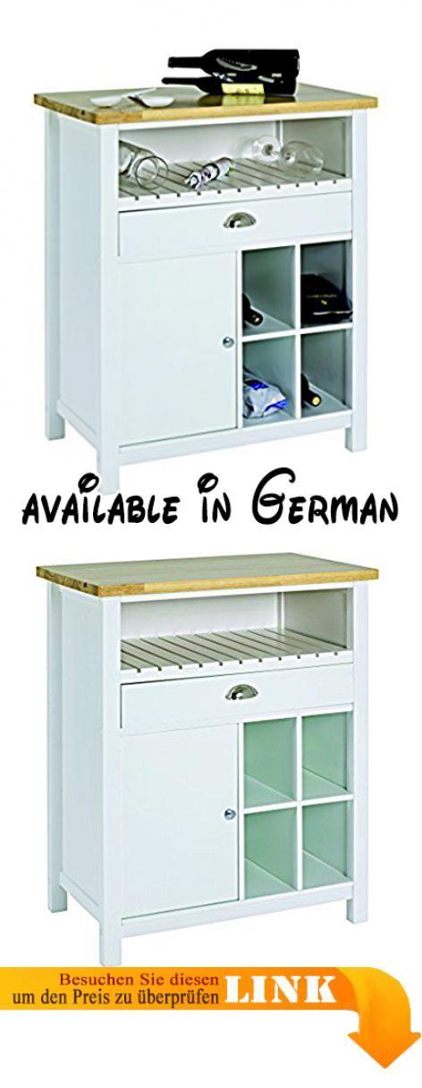 B01MDUTBEO : HAKU Möbel 29115 Küchenwagen Holz weiß / natur 45 x 70 ...