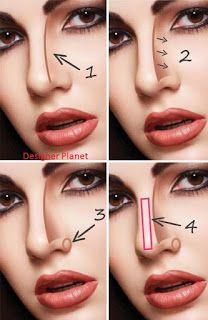 Make Nose Looks Sharp And Slim Big Nose Eyelinertricks Make Nose Looks Sharp Make Nose Looks Sharp And Slim Big Nose Makeup Nose Makeup Nose Contouring