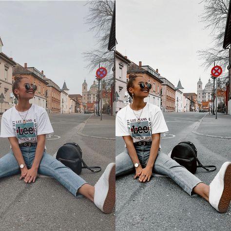 Edited with Dark style Lightroom preset
