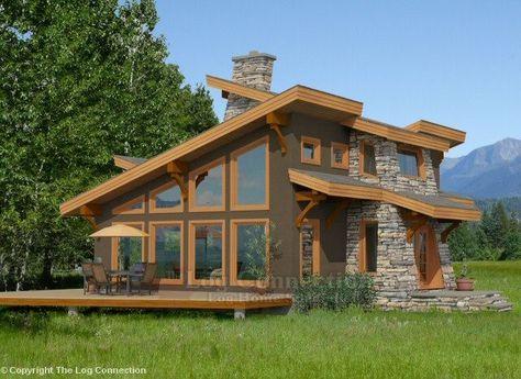 Modern log and timber floor plan Log Homes Pinterest Timber