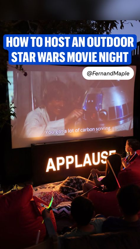 How to host an outdoor Star Wars movie night