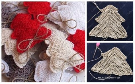 Crochet Christmas Tree Ornament Free Pattern Tutorial, 3D Christmas Tree, Christmas Tree Softie