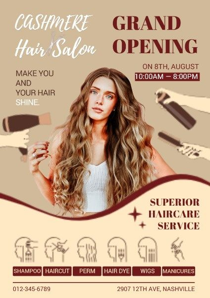 Make A Hairsalon Sale Poster Is Easy With Fotor Design Tool Click This Image To Find More Sales Posterdesi Beauty Salon Posters Hair Salon Salon Openings