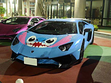 Stitch Toy, Cute Stitch, Fancy Cars, Cute Cars, Crazy Cars, Weird Cars, Lilo And Stitch Quotes, Lelo And Stitch, Disney Jokes