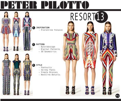 FASHION VIGNETTE: [ TREND REPORT ] PETER PILOTTO - RESORT 13