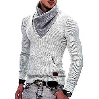 the latest 3abb0 4598d Indicode Herren Dane Grobstrick Winter-Pullover Norweger ...