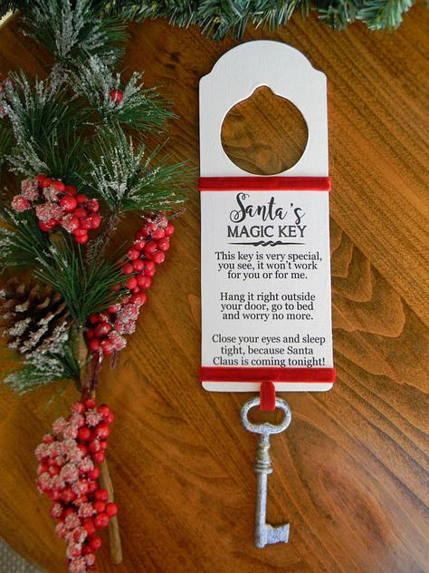 Santa's Magic Key Santa's Key Christmas Decor Rustic