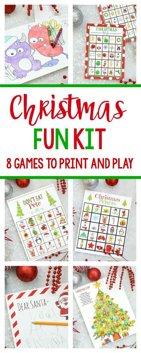 190ec7fd267 Christmas Fun Kit-Print and play these 8 games and activities with your kids