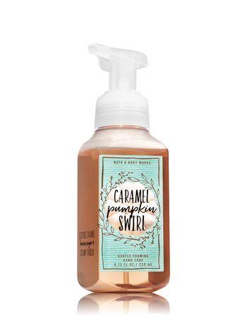 Caramel Pumpkin Swirl Gentle Foaming Hand Soap Bath And Body Works Bath N Body Works Pumpkin Caramel Bath And Body Care