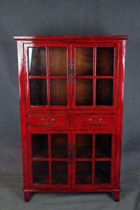 Red antique finish