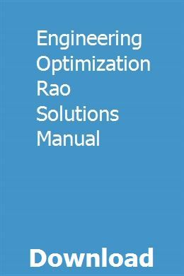 Engineering Optimization Rao Solutions Manual Sourcawelchai Advanced Mathematics Installation Manual Number Theory
