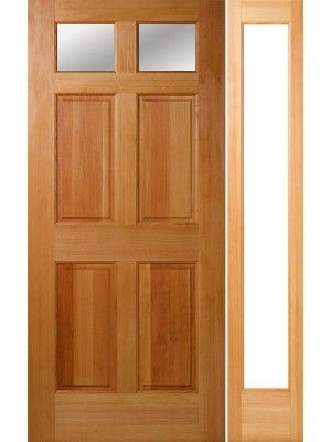 80 4 Panel 2 Lite Fir Exterior Single Door 1side 1 3 4 Thick Single Doors Exterior Entrance Doors Paneling