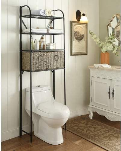 Kiowa 24 W X 71 5 H Over The Toilet Storage Bathroom Space Saver Over Toilet Storage Toilet Storage
