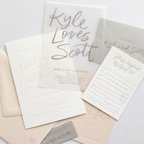 Wax Paper Wedding Invitations Hy Day