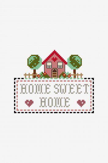 Little House Hogar Dulce Hogar Diagrama Punto De Cruz Punto