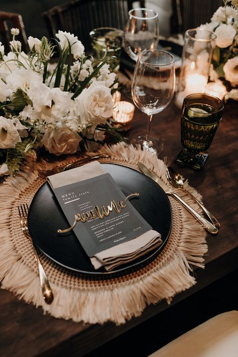 This destination wedding at Papaya Playa Project in Tulum, Mexico, was planned by Destination Weddings Tulum and photographed by Katie Ruther. Dinner Party Table, Wedding Dinner, Our Wedding, Dream Wedding, Party Tables, Wedding Reception Decorations, Wedding Themes, Dinner Table Decorations, Best Wedding Ideas