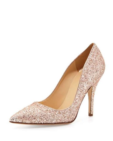 Neiman Marcus | Kate Spade New York Licorice Too Glittered Pointy Pump #neimanmarcus #katespade #pumps