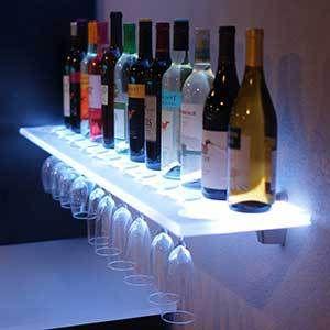 Floating Shelves W Wine Glass Rack Led Lighting Brackets Wine Glass Rack Wine Glass Shelf Glass Rack