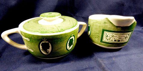 VTG Set of 2 Royal China Colonial Homestead Creamer & sugar bowl with lid