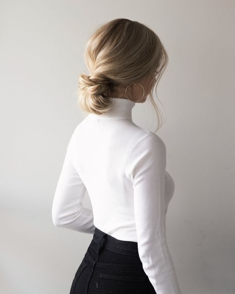 EASY LOW BUN HAIR TUTORIAL | www.alexgaboury.com