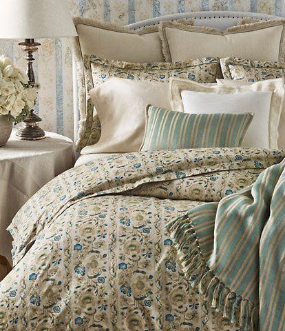 Ralph Lauren Constantina Collection Cassandra Floral Comforter Couvre Lit Lit Couvre