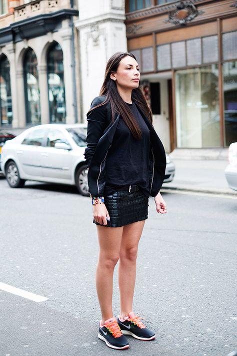 love the skirt + nike combo | Fashion, Street style