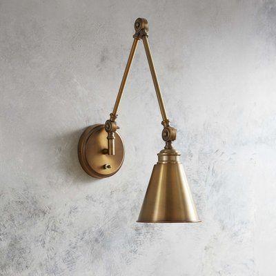 Trent Austin Design Waucoba 1 Light Swing Arm Lamp Wayfair Swing Arm Lamp Lamp Wall Lights