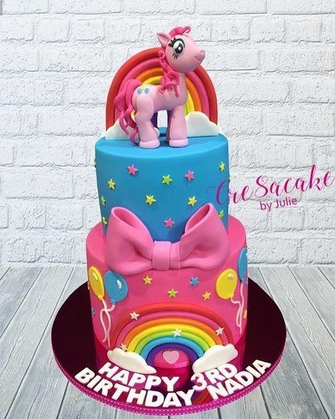 Cre8acake By Julie On Instagram My Little Pony Pinkie Pie Birthday Cake