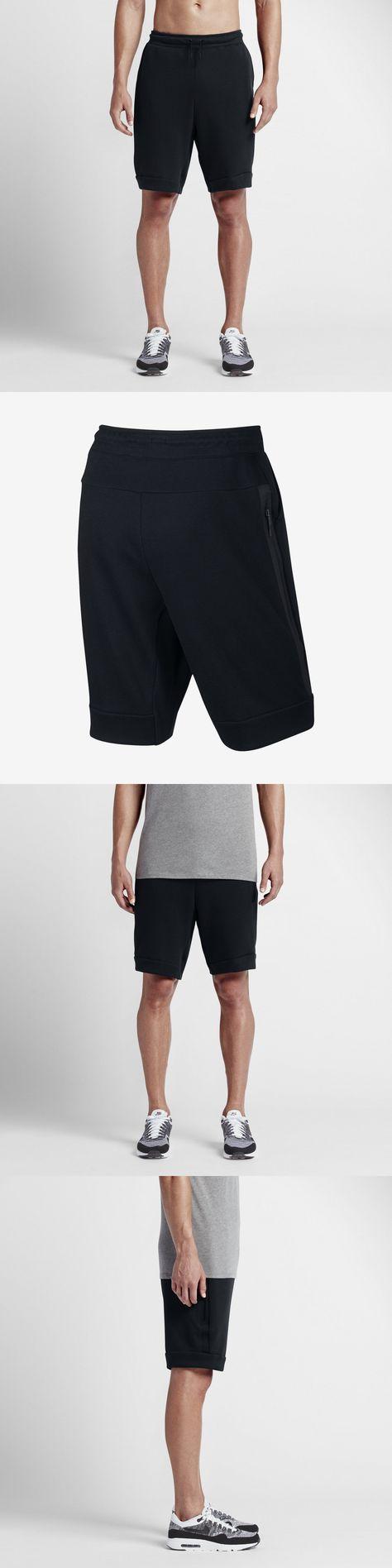 Nike Men's Tech Fleece Shorts 805160-010 Black; Size XXL